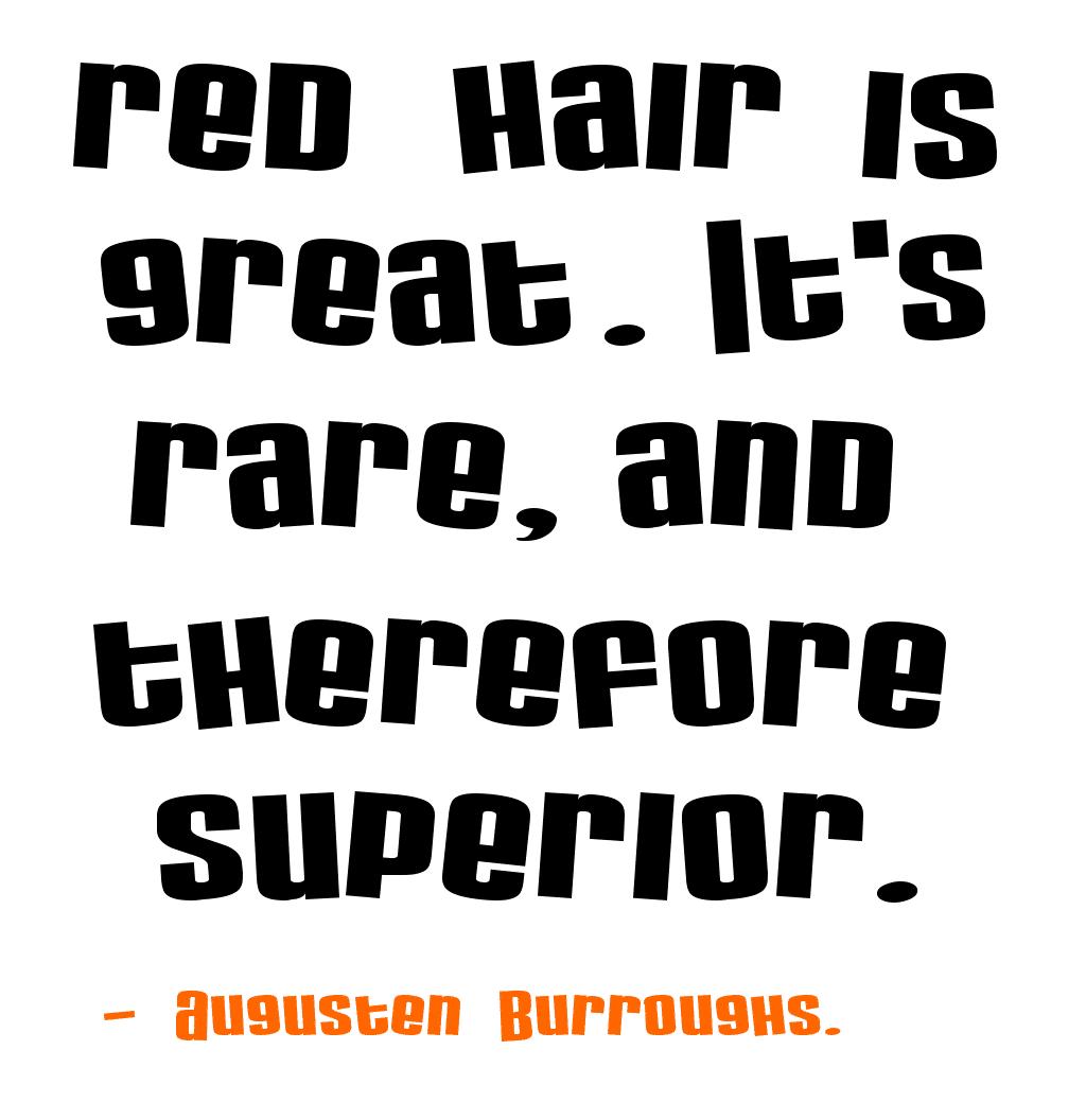 Red head sayings