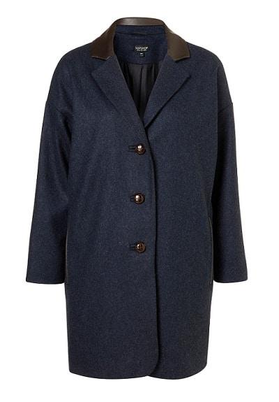Topshop oversized boyfriend coat