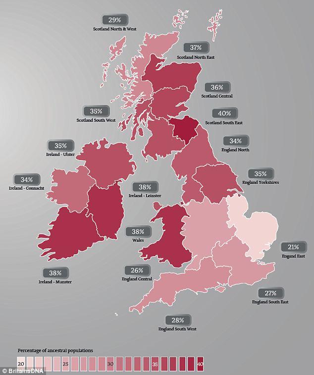 BritainsDNA Ginger Gene Map