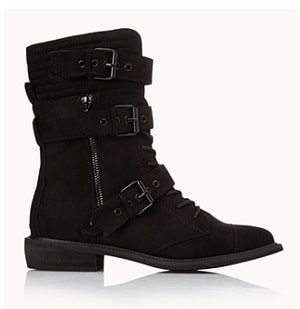 Forever 21 Black Boots - Black Widow