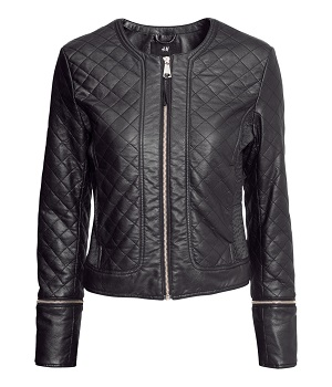 H&M Black Leather Jacket - Black Widow