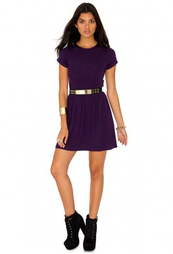 Purple Dress - Missguided