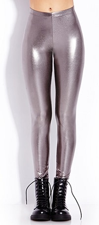 Silver Disco Pants - Forever 21