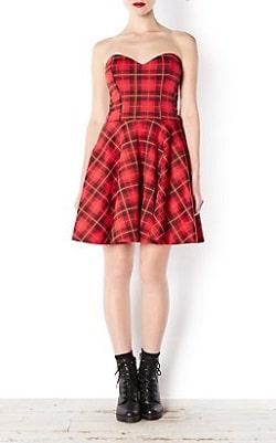 Tartan Dress - New Look