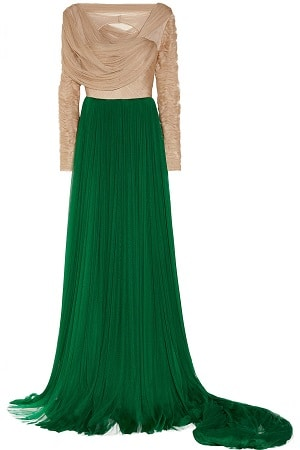 Delpozo Emerald Green Dress