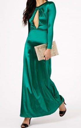 Missguided Emerald Green Dress