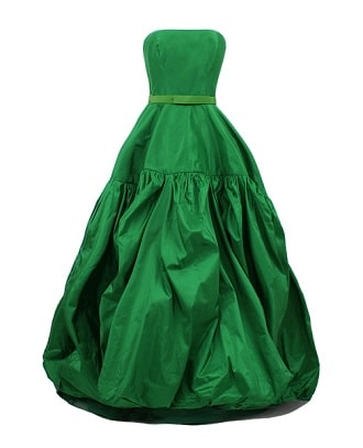 Oscar La Renta Emerald Green Dress