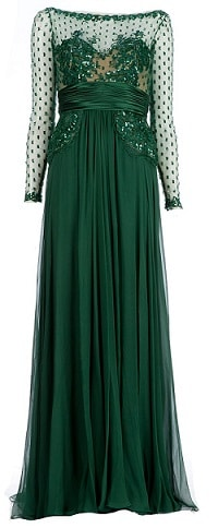 Zuhair Murad Emerald Green Dress