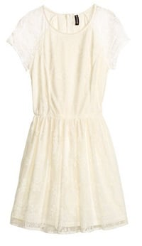 H and M Lace White Dress