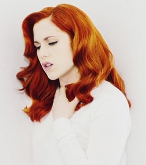 Katy B Red Hair White Clothes - Still Video