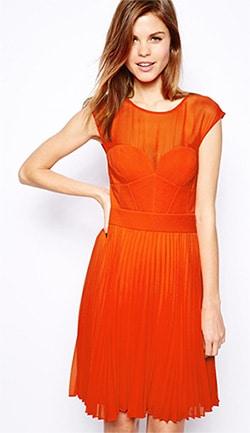Karen-Millan-for-ASOS-Orange-Dress