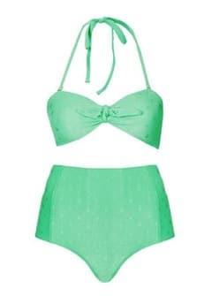 Topshop Green Bikini