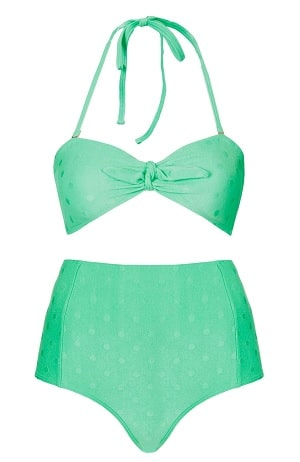 Ginger Fashion Love Mint Green Topshop Bikini
