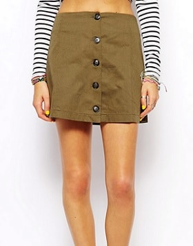 Combat Green Army Skirt