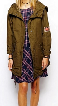 Combat Green Army Trench Parka Coat