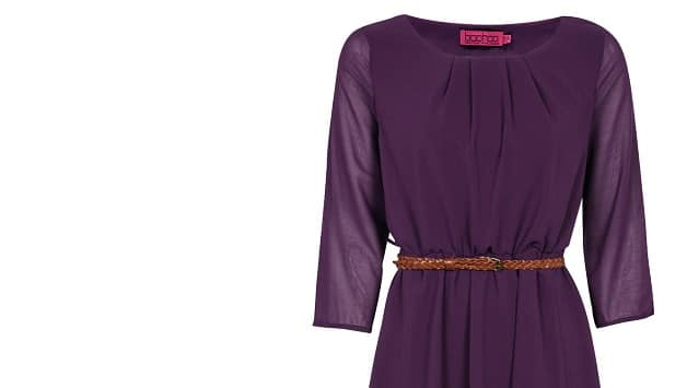 Ginger Fashion Love Boohoo Purple Dress - Ginger Parrot