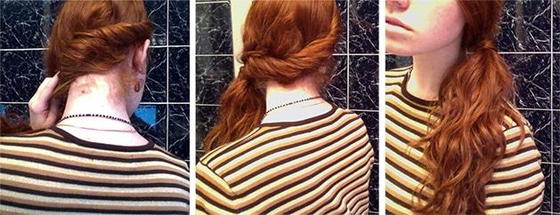 Rolled-Ponytail-Ginger-Hair-Love