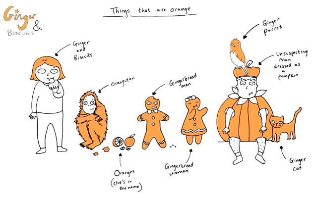 Things That Are Orange By Ginger And Biscuits Ginger Parrot