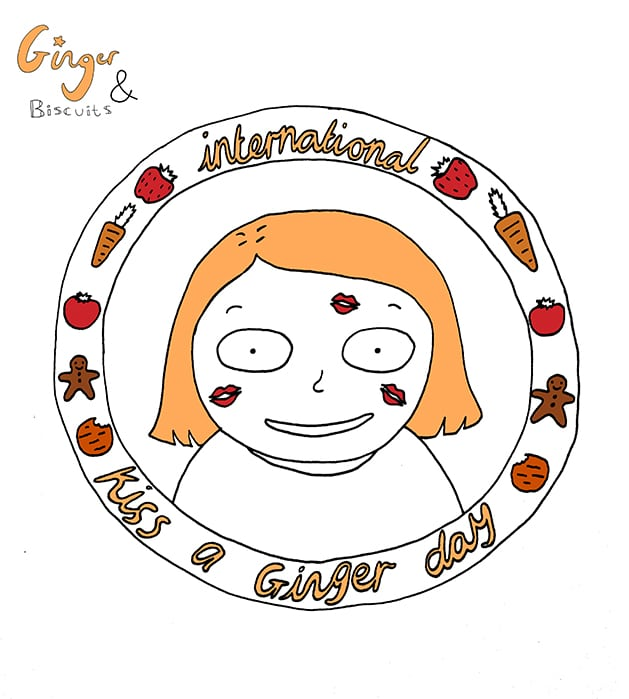 Kiss A Ginger Day, by Ginger and Biscuits | Ginger Parrot