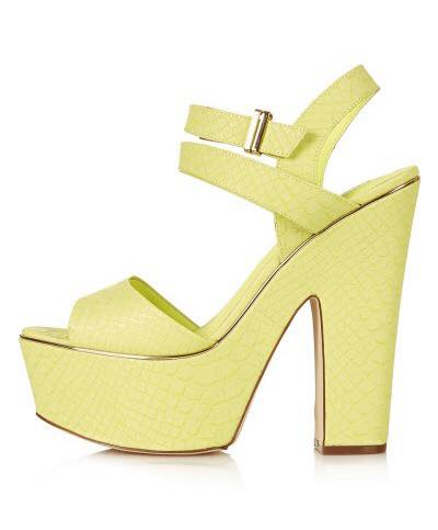 Chunky Yellow Sandals