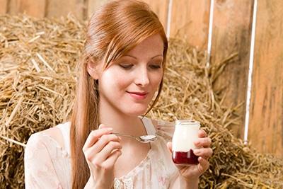 Redhead-yoghurt