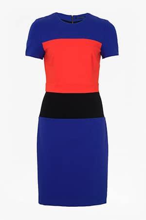 Blue-red-colour-block-dress