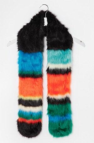 Colour-block-faux-fur-scarf