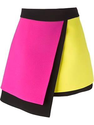 Pink-yellow-colour-block-skirt