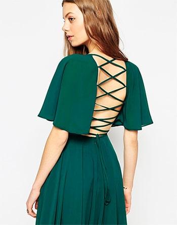 Green Criss Cross Dress ASOS