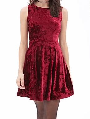 Red velvet dress Forever 21 USA