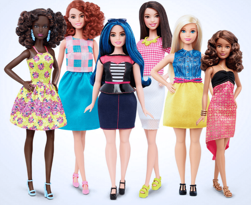 New diverse Barbies