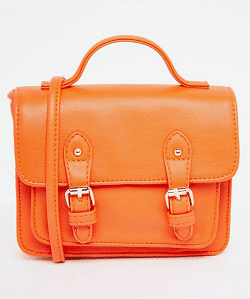 ASOS orange satchel