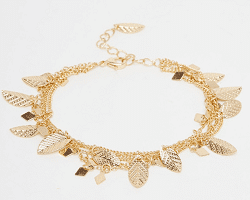 River Islands ASOS leaf bracelet