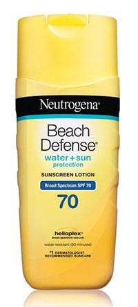 Neutrogena Beach Defense sunscreen for redheads