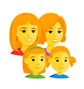 ginger emoji family