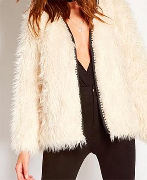 Forever 21 faux fur white coat