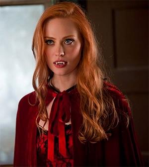 Jessica Hamby redhead vampire Halloween costume fancy dress