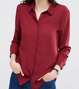 Maroon blouse ASOS