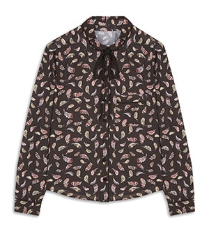 Patterned shirt blouse