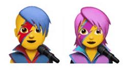 David Bowie Aladdin Sane emojis