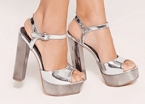 Missguided silver shoes