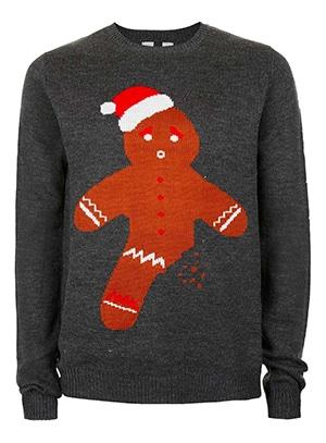 Topman Gingerbread Christmas Jumper