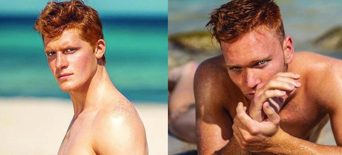 Ginger male model