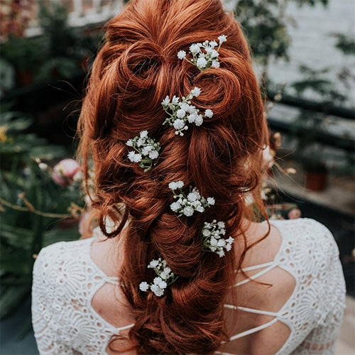 Floral hair pieces for redheads | Ginger